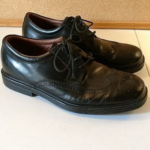 Nunn Bush black leather lace up oxford shoes